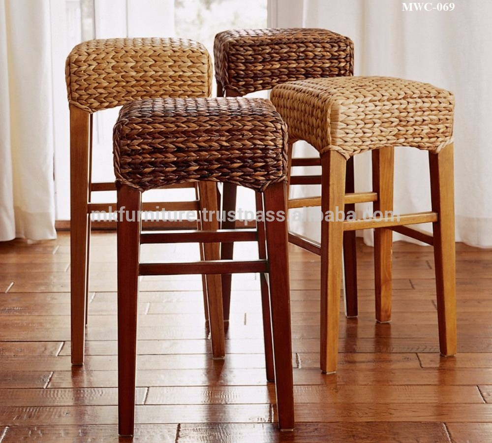 Seagrass Bar Stools | Comfortable Bar Stools with Backs | 36 Bar Stools