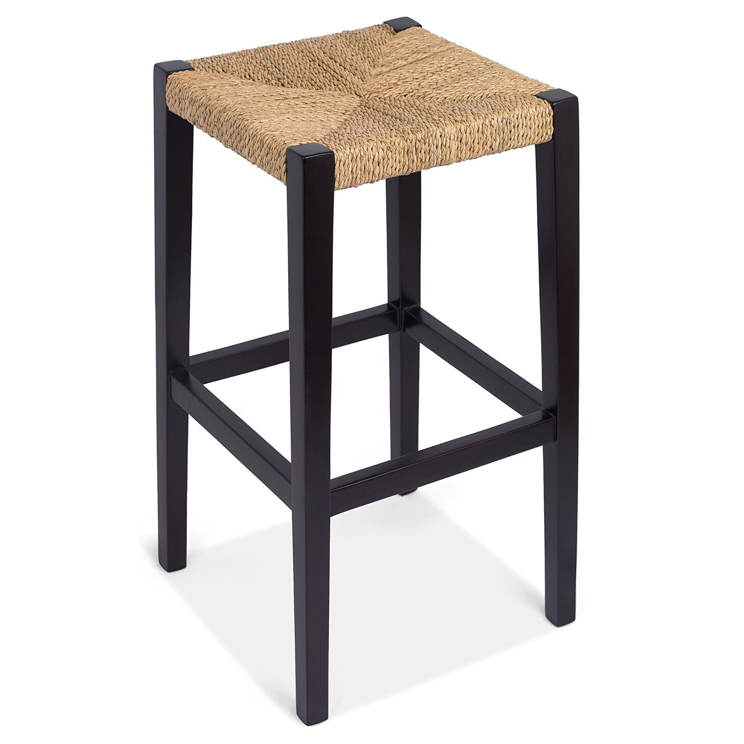 Seagrass Bar Stools | Counter Height Swivel Bar Stools | Upholstered Bar Stools