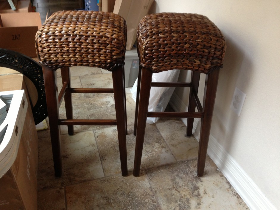 Seagrass Bar Stools | Fabric Bar Stools | Low Profile Bar Stools