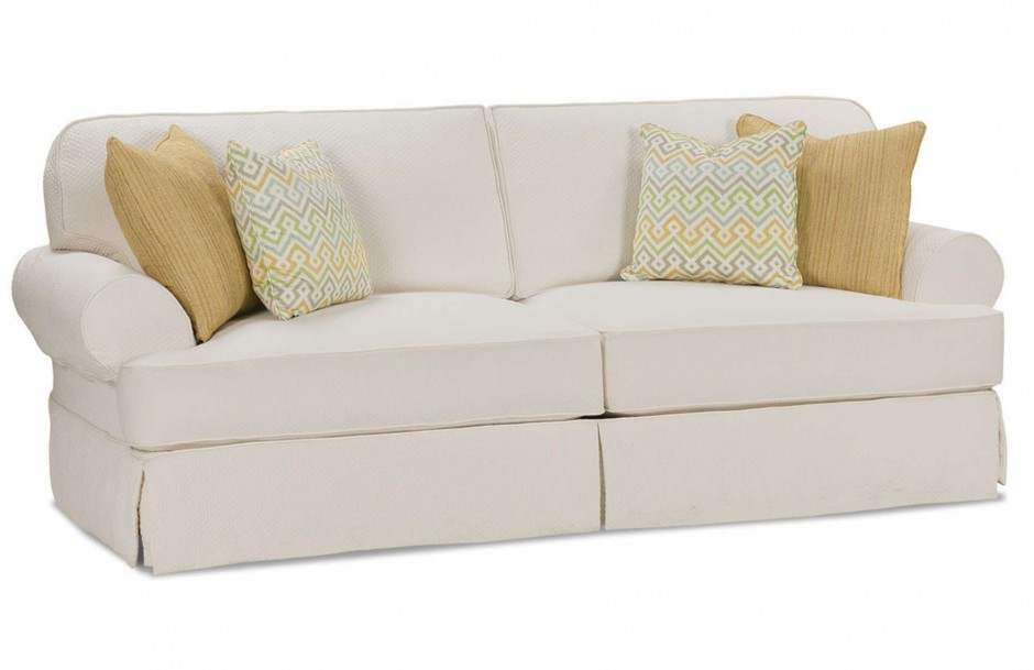 Settee Slipcover   Rowe Furniture Slipcovers   Chair And Ottoman Covers