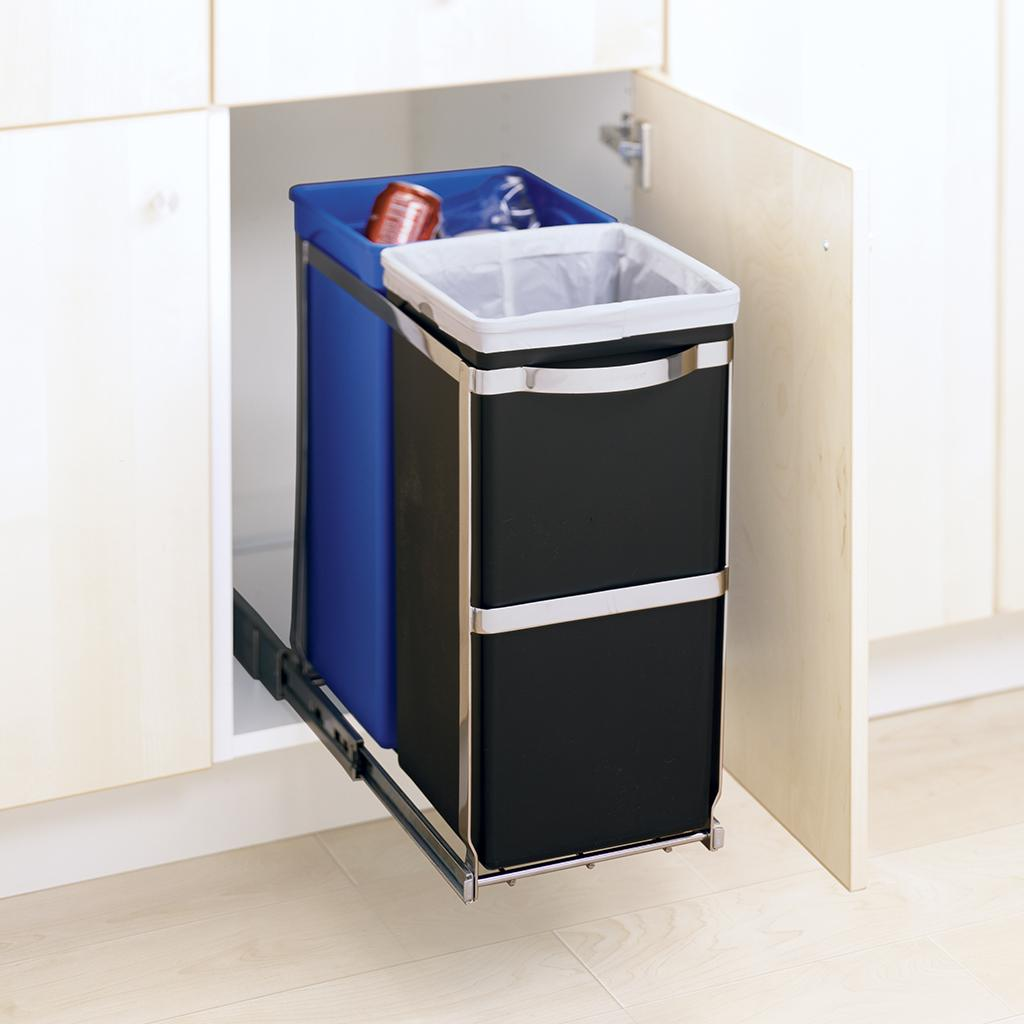 Simplehuman Recycler | Double Sided Trash Can | Simplehuman Pull Out Trash Can