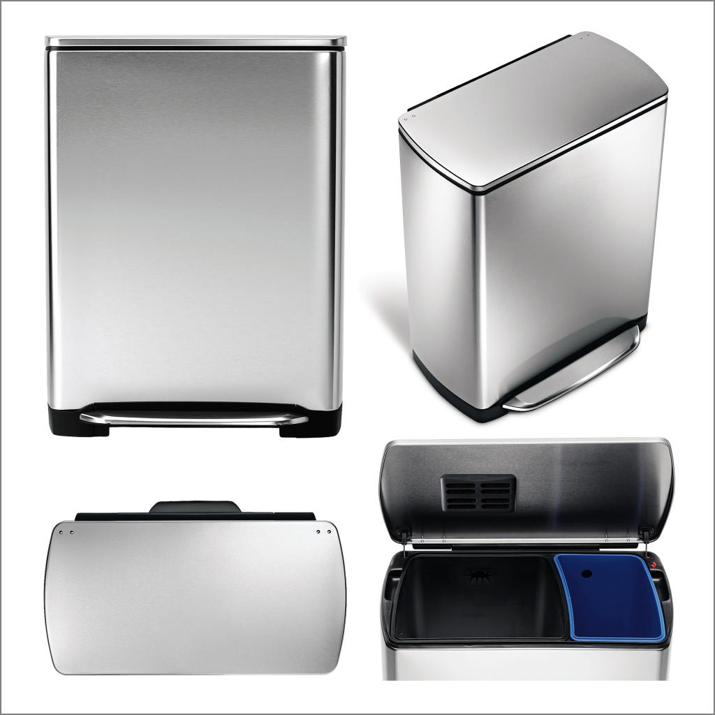 Simplehuman Recycler | Double Trash Cans for Kitchen | Simple Human G Trash Bags