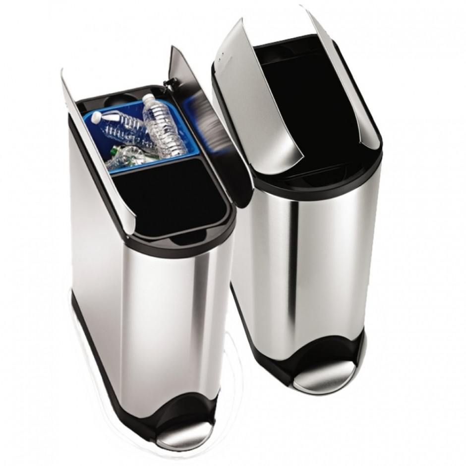 Simplehuman Recycler | Simplehuman Stainless Steel Trash Can | Simplehuman Stainless Trash Can