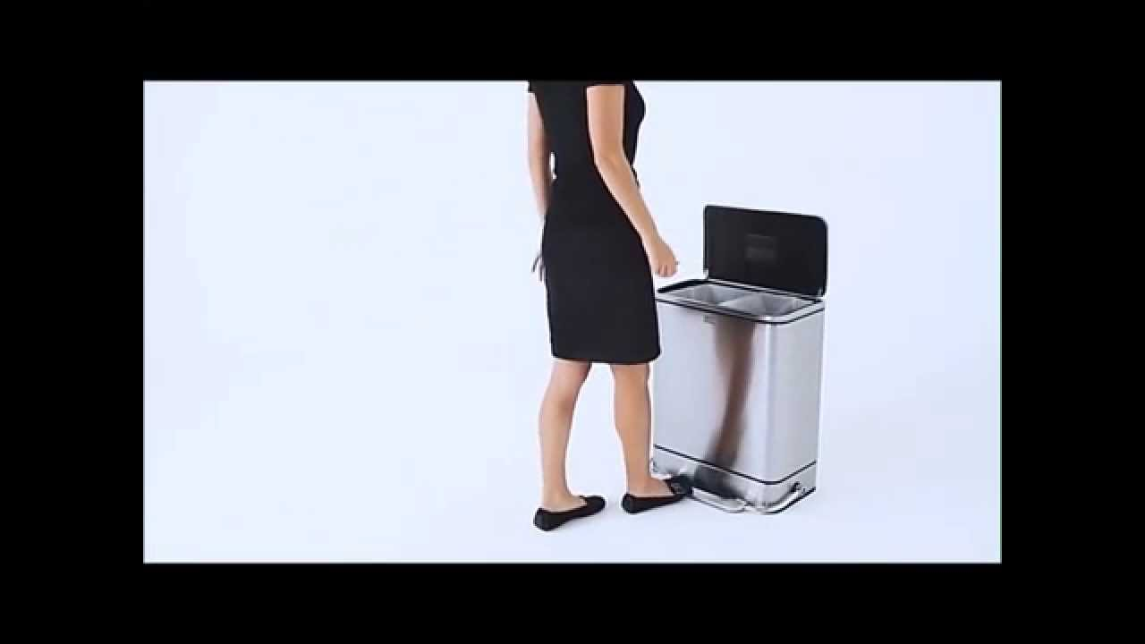 Simplehuman Recycling | Simplehuman Recycler | Dual Stainless Steel Trash Can