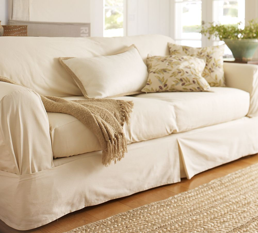 Slipcover Sectional Sofa with Chaise | Rowe Furniture Slipcovers | Pottery Barn Slip Covers