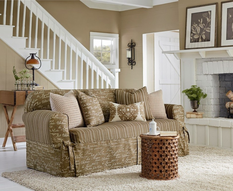 Slipcovers For Sofas With Cushions Separate | Reclining Sofa Slipcover | Chair And A Half Slipcover