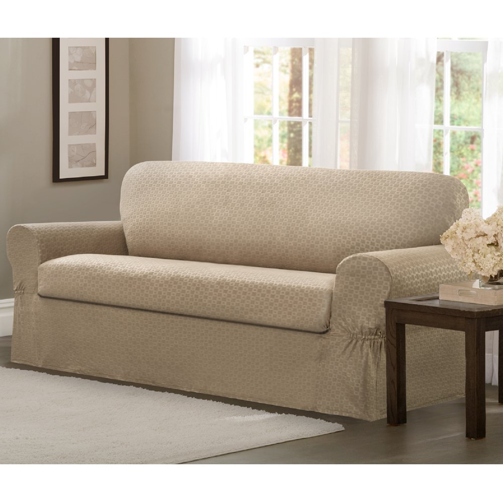 Slipcovers for Sofas with Cushions Separate | Slipcovers for Sectionals | Sectional Slipcover