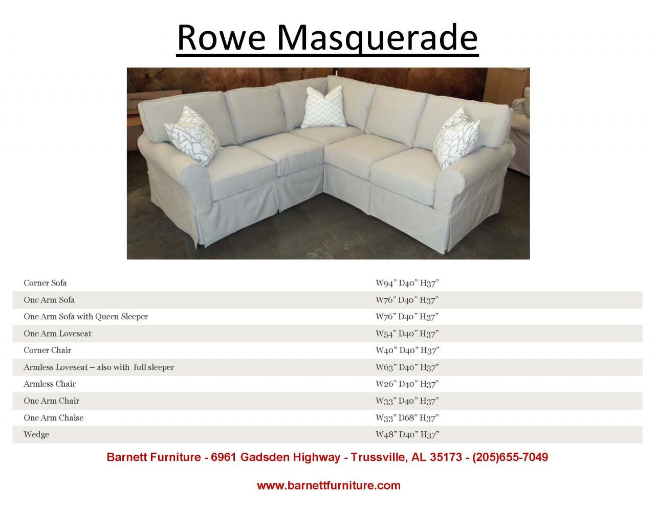 Sofa Covers for Sectionals | Rowe Sofas | Rowe Furniture Slipcovers