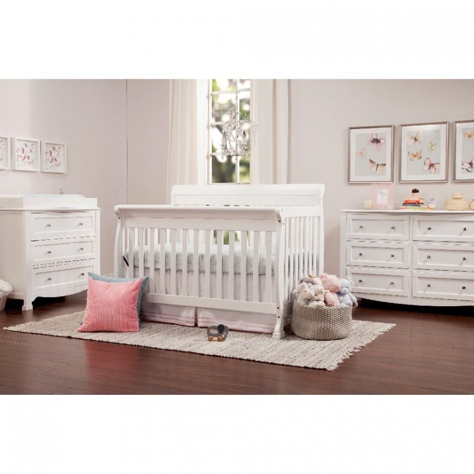 Sorelle Princeton Crib Toddler Rail | Sorelle Vicki Crib | Sorelle Princeton 4 In 1 Convertible Crib N Changer White