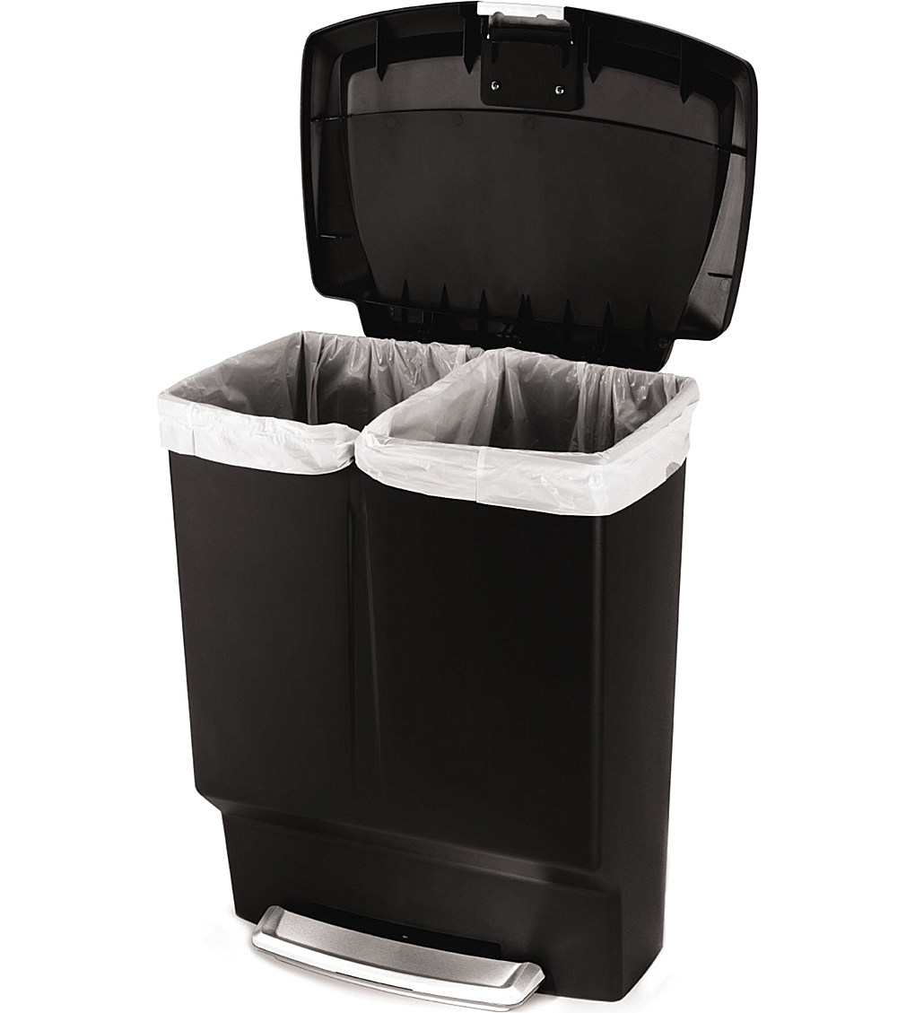 Stainless Steel Garbage Can Home Depot | Simplehuman Recycler | Simple Human Trashcan