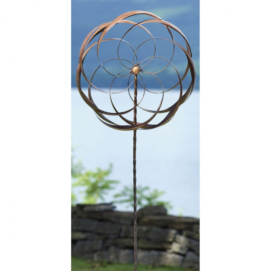 Stanwood Wind Sculpture Kinetic | Wind Spinners | Cat Wind Spinner