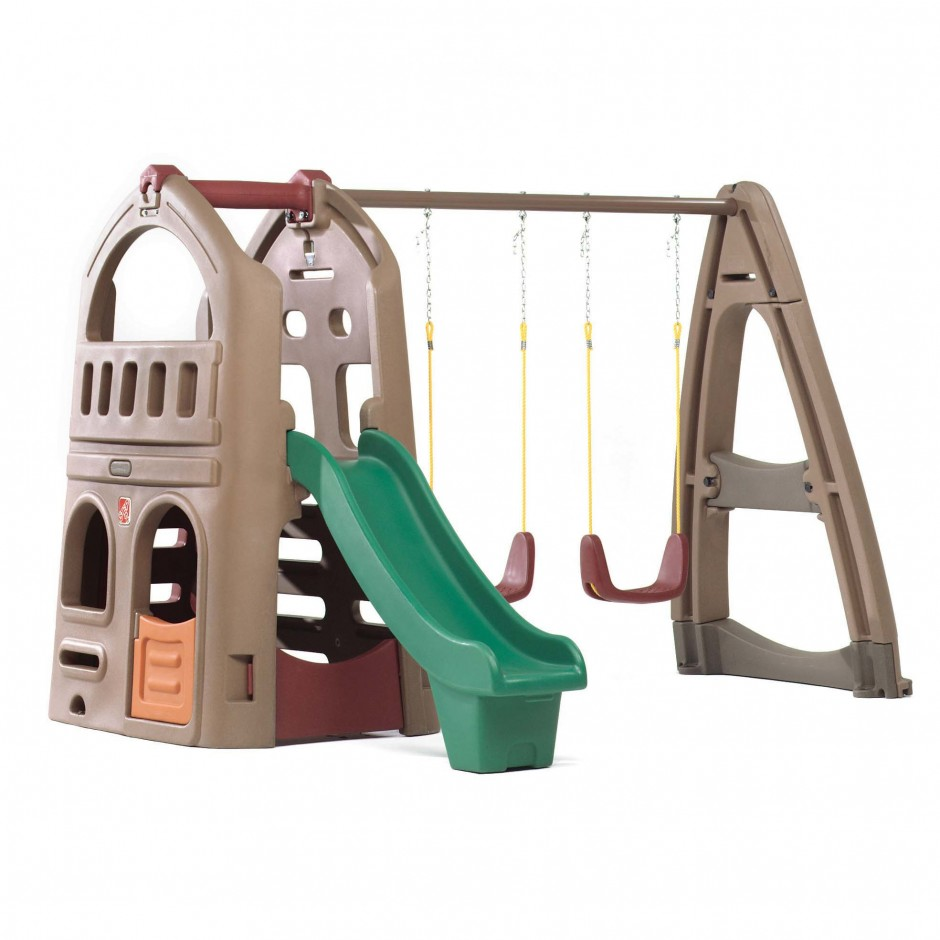Step2 Naturally Playful Woodland Climber | Step2 Lookout Treehouse Climber Playset | Step 2 Naturally Playful Clubhouse Climber