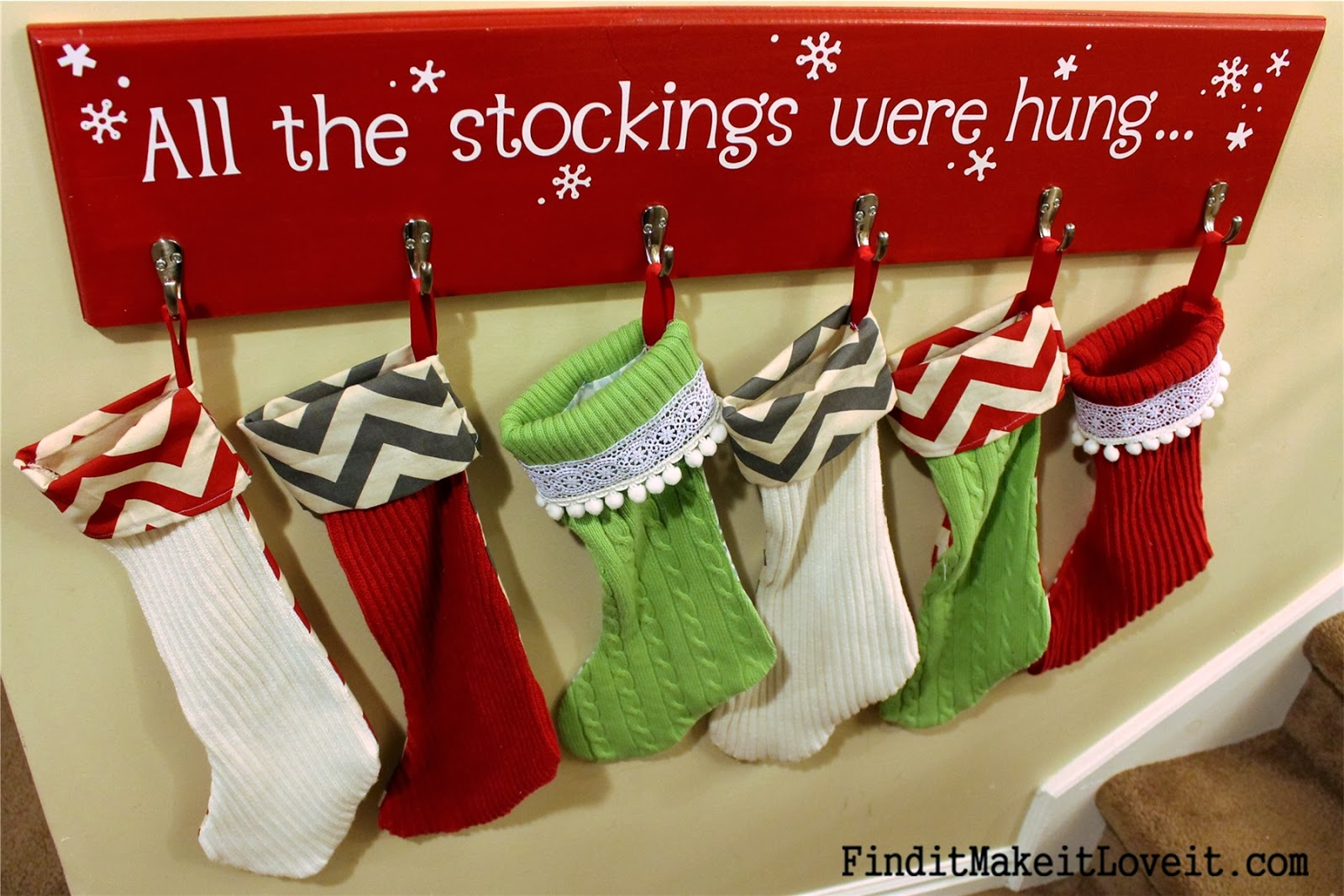 Stocking Holders | Neutral Christmas Stockings | Stocking Holder for Mantle