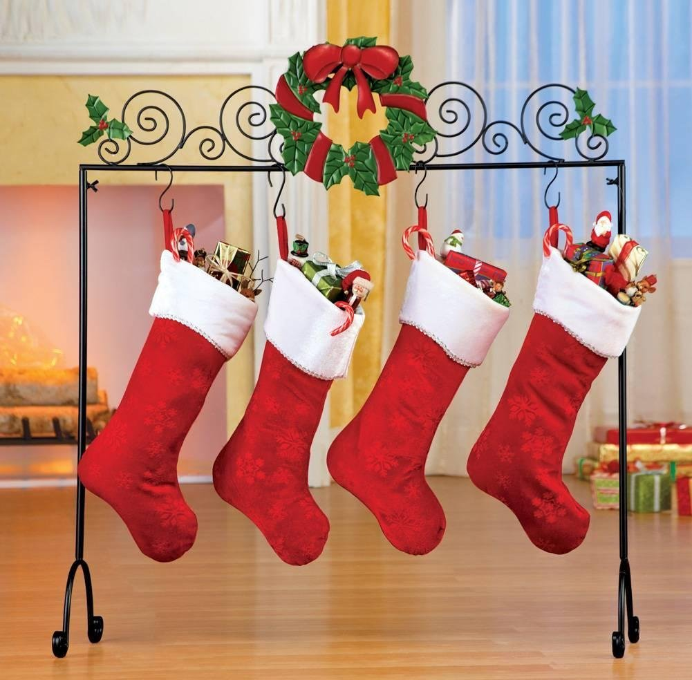 interior u0026 decor stocking hooks gold reindeer stocking holder