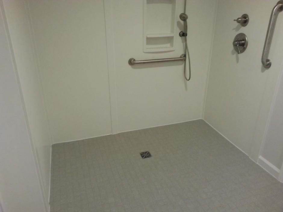 Swanstone Shower Floor | Swanstone | Corian Shower Walls