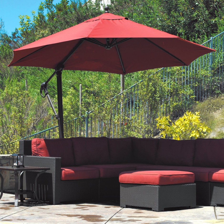 Target Offset Umbrella | Offset Patio Umbrellas | Garden Treasures Offset Umbrella