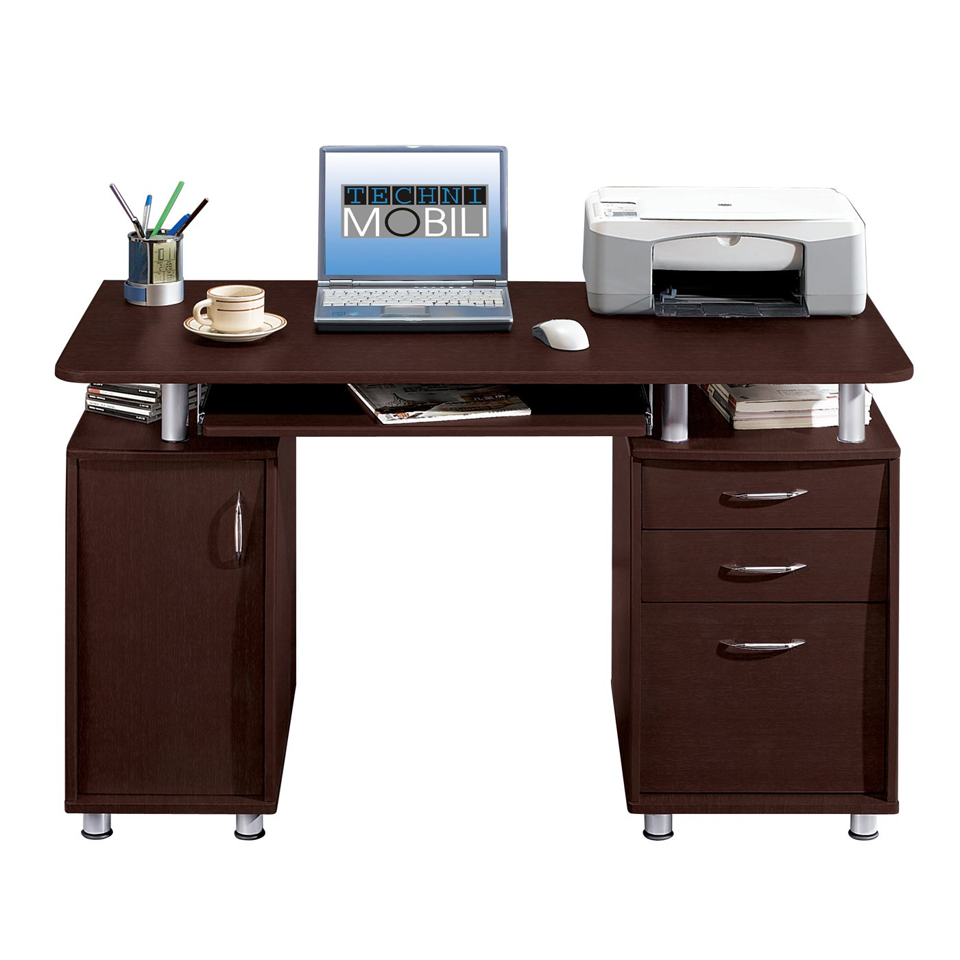Techni Computer Desk | Techni Mobili L Shaped Desk | Techni Mobili