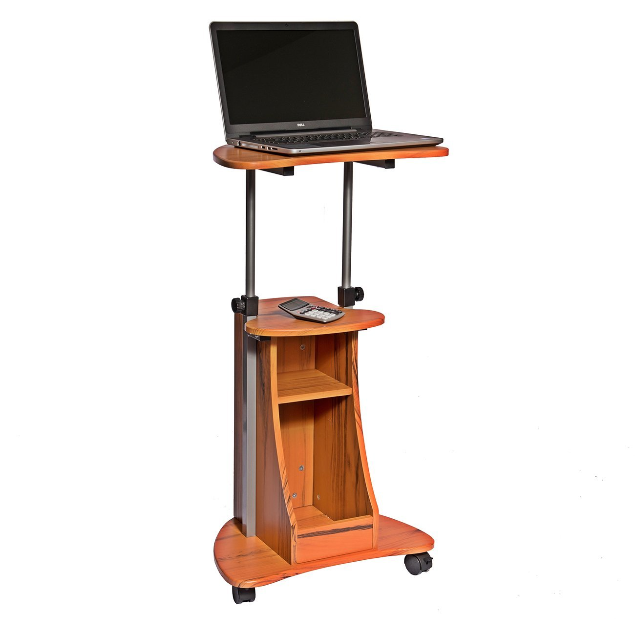 Techni Mobili | Mobile Laptop Cart with Storage | Techni Mobili Tempered Glass Computer Desk