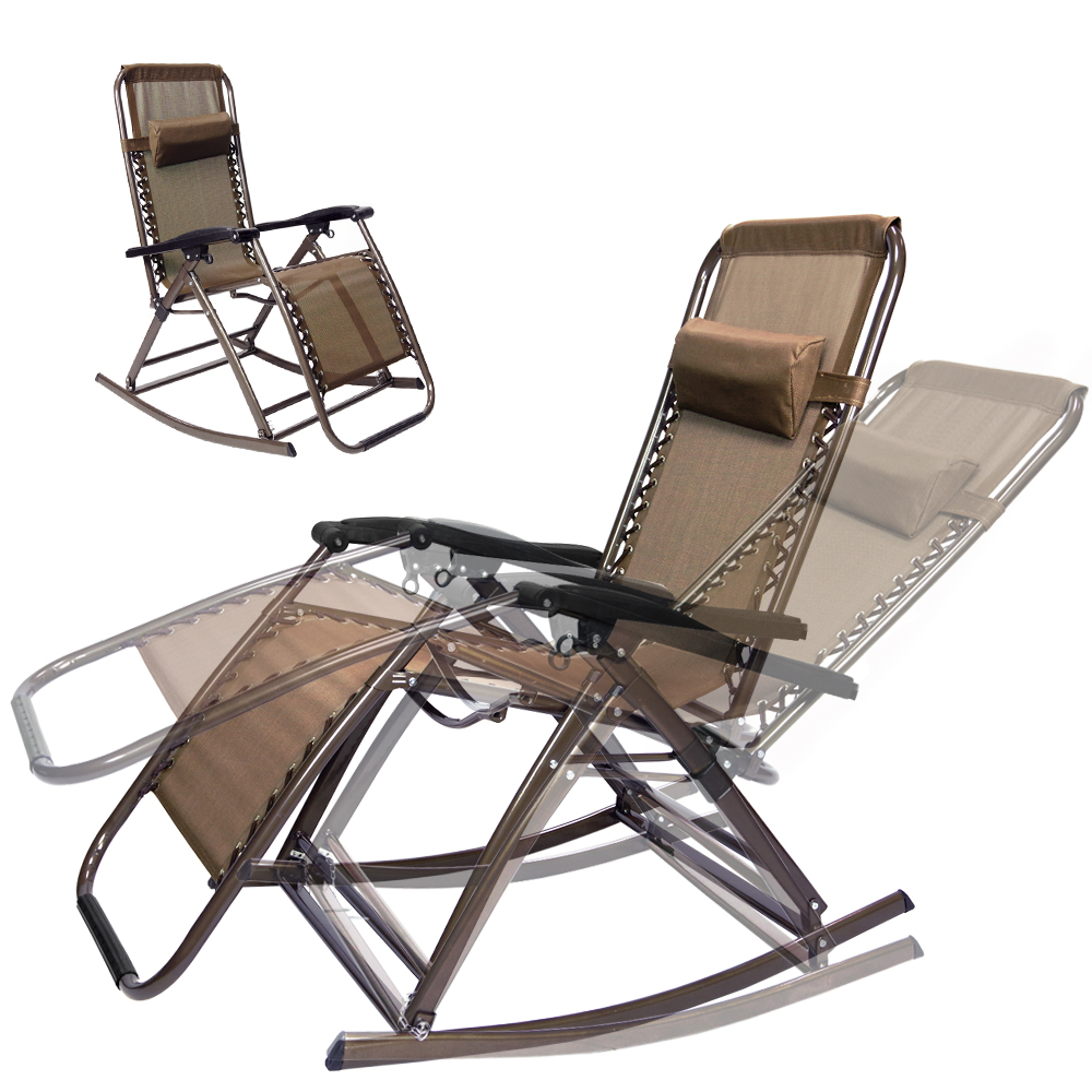Timber Ridge Camp Lounger | Orbital Lounger | Lifestyle Solutions Ravenna Euro Lounger