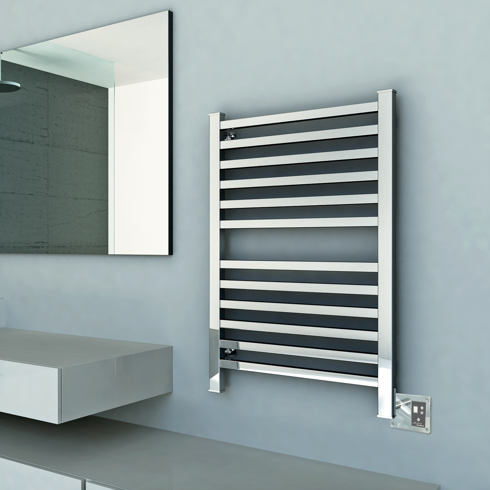 Towel Warmer Brushed Nickel | Towel Rack Wall Mount | Amba Towel Warmers