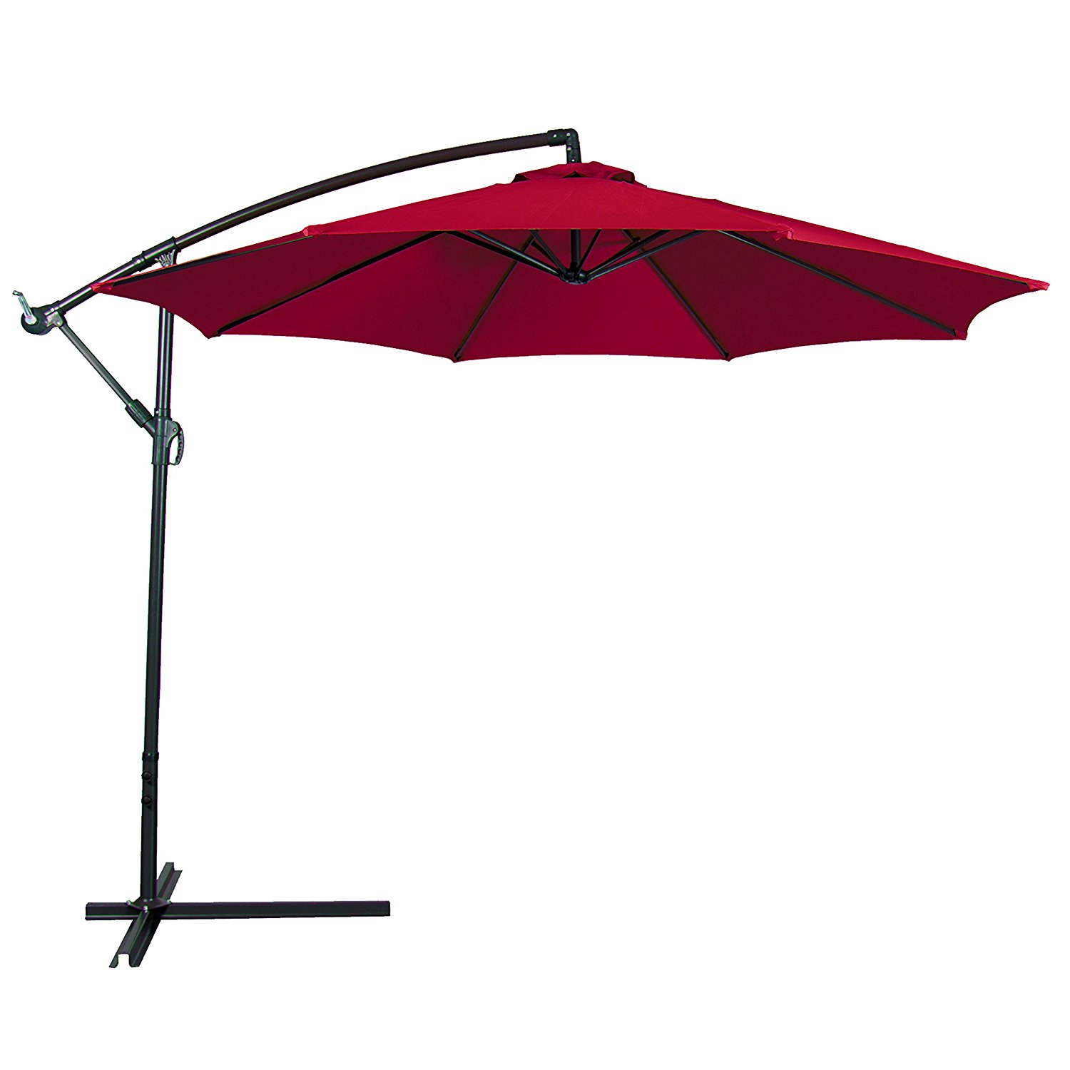 Treasure Garden Cantilever Umbrella 13 | Garden Treasures Offset Umbrella | Rectangular Patio Umbrella with Solar Lights