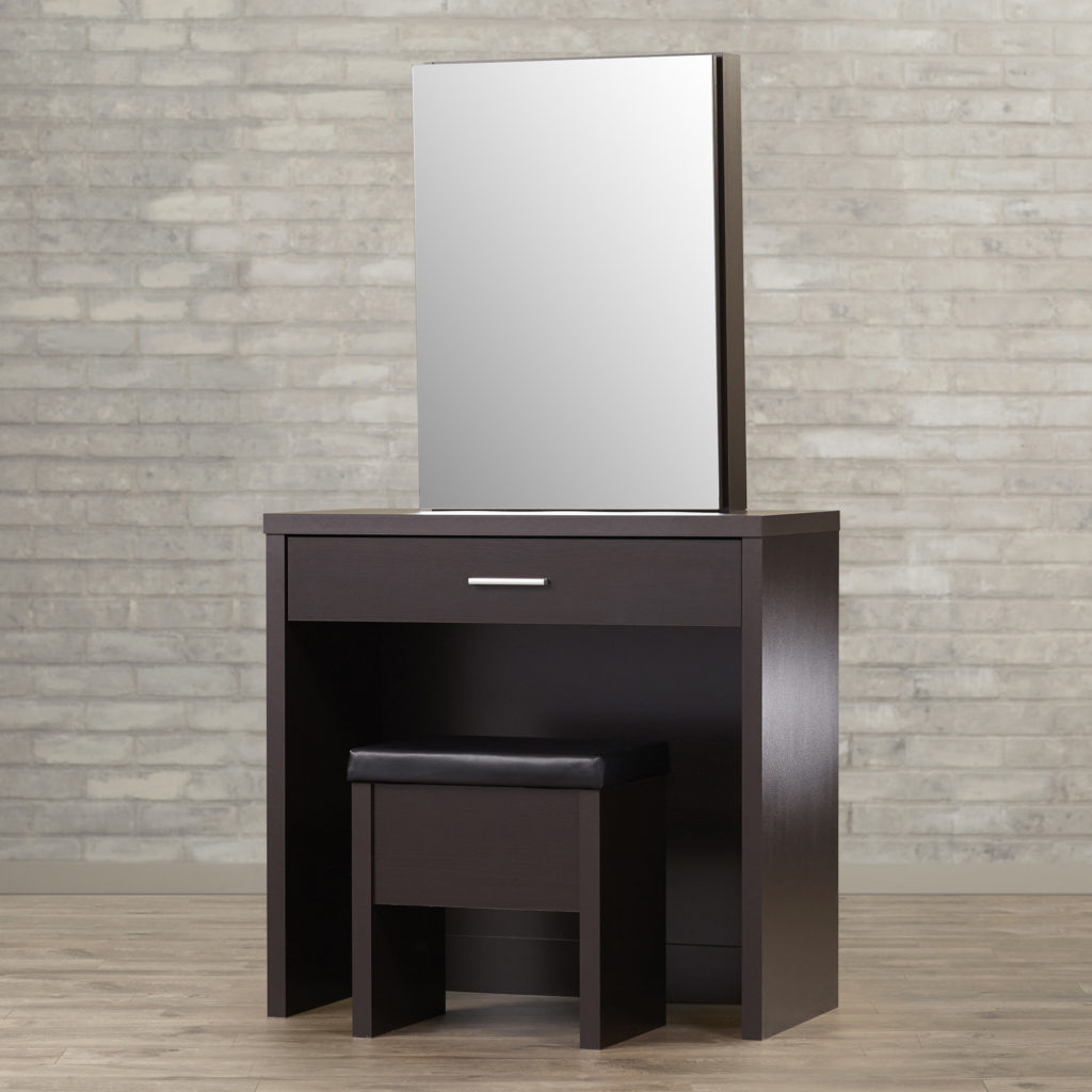 Wall Mounted Makeup Mirror | Vanities for Bedroom with Lights | Makeup Vanity Table with Lighted Mirror