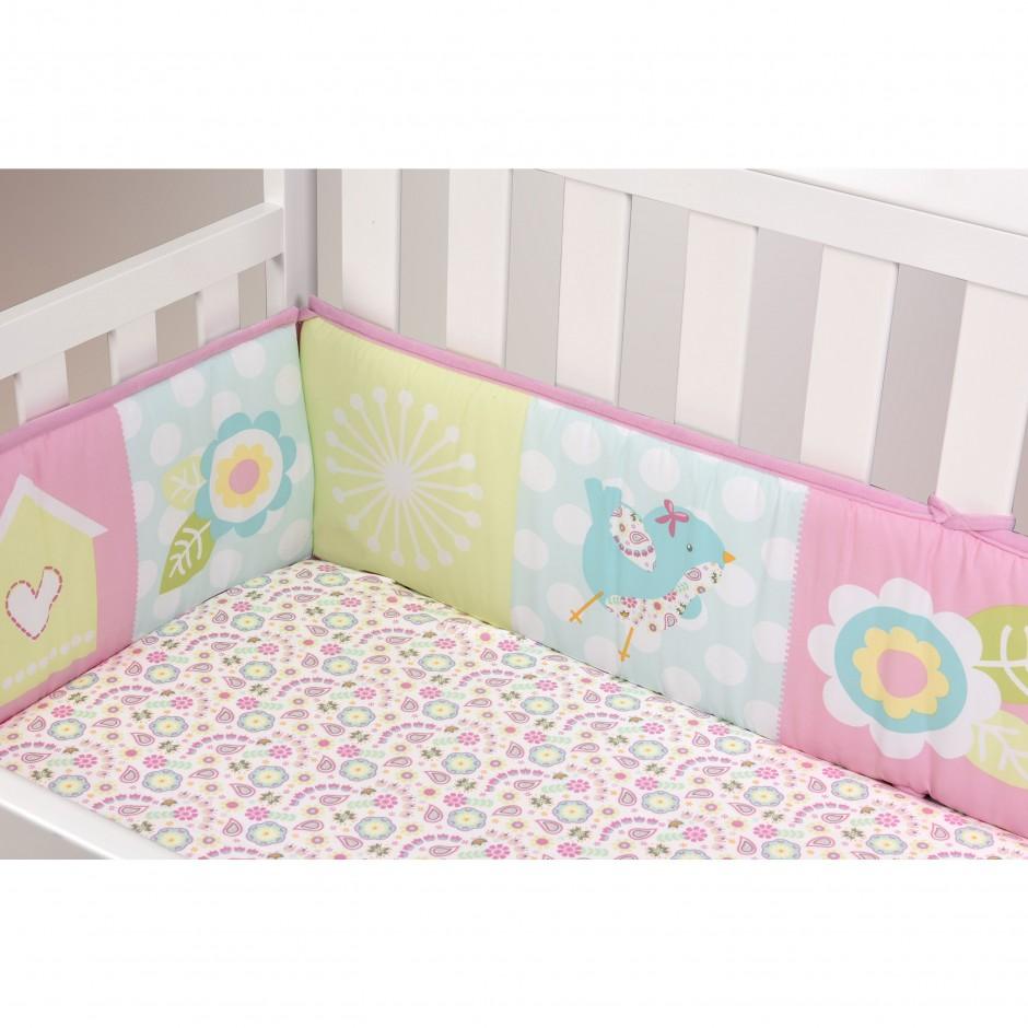 Yellow Crib Bumper Pads | Crib Bumper Pads | Polka Dot Crib Bumper Pad