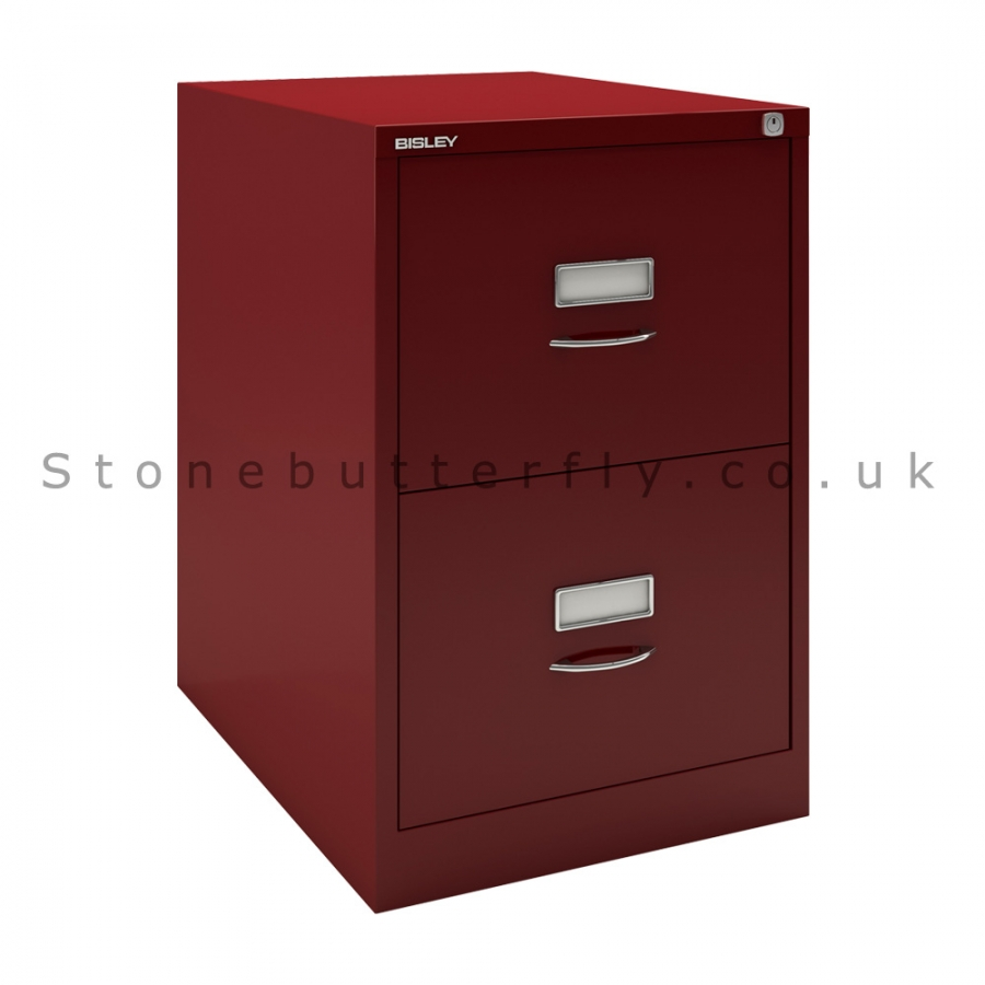 2 Drawer Filing Cabinet With Lock | Bisley File Cabinets Sale | Bisley File Cabinet
