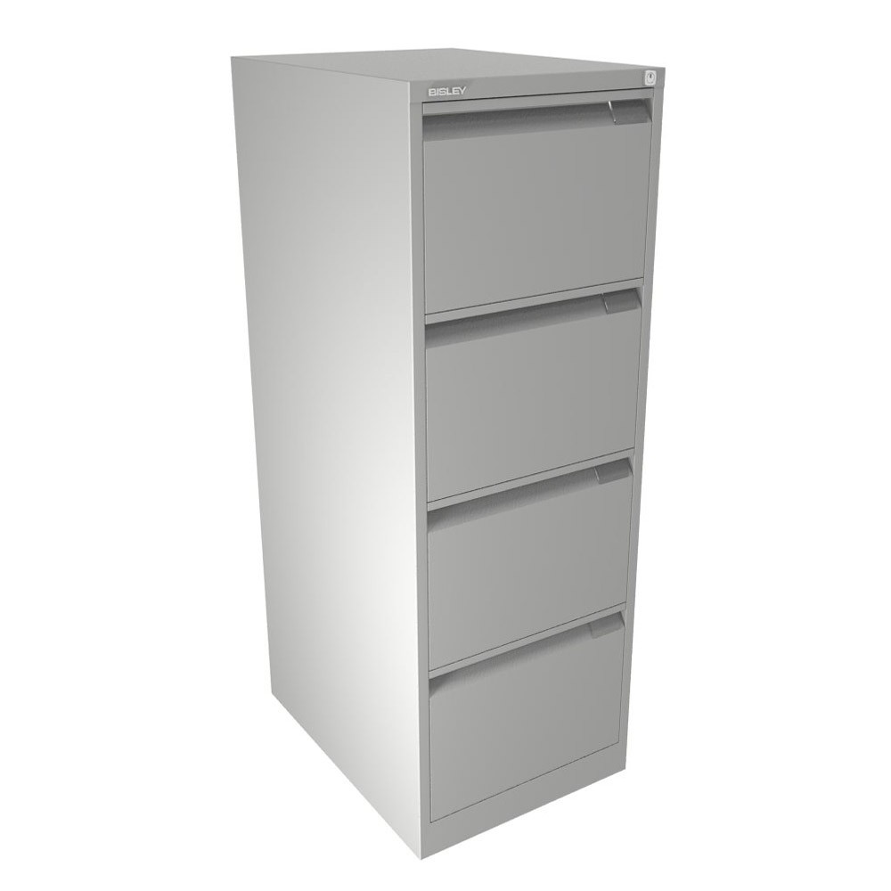 3 Drawer Filing Cabinet White | Locked Filing Cabinets | Bisley File Cabinet