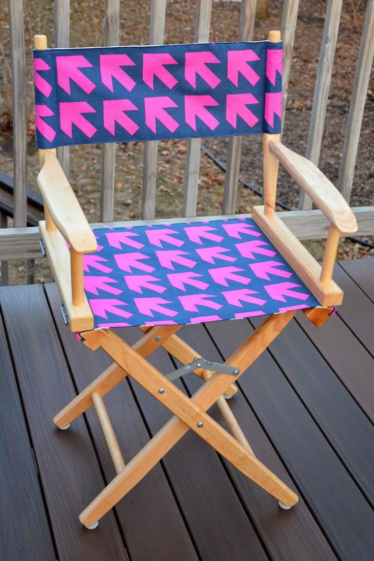 Canvas Folding Chair | Embroidered Directors Chair | Directors Chair Replacement Canvas