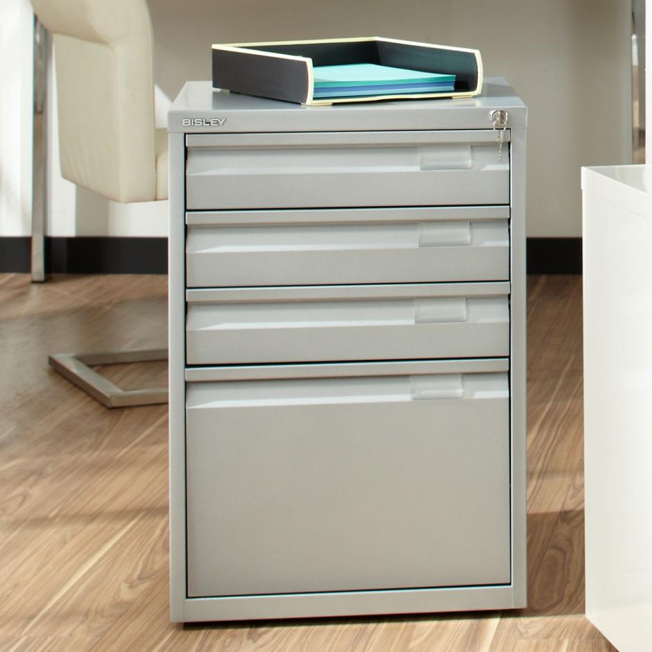 Desk With File Cabinet Drawer | Bisley Multidrawer Cabinets | Bisley File Cabinet