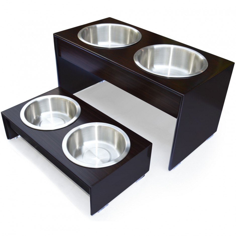 Elevated Dog Bowls | Dog Auto Feeder | Elevated 3 Bowl Dog Feeder