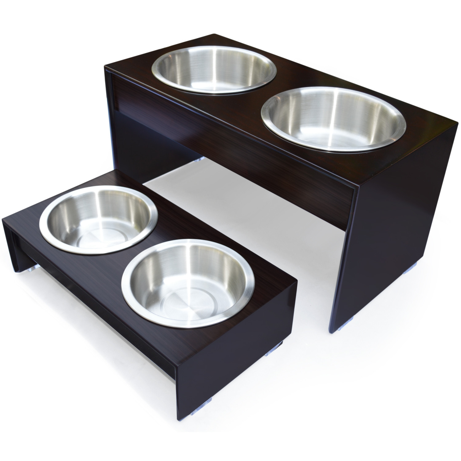 Charming Elevated Dog Bowls for Best Dog Bowl Ideas: Elevated Dog Bowls | Dog Auto Feeder | Elevated 3 Bowl Dog Feeder