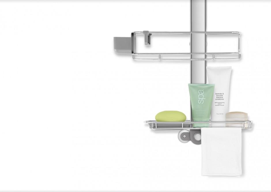 Simplehuman Shower Caddy   Bathroom Caddies Accessories   Pole Caddy Shower