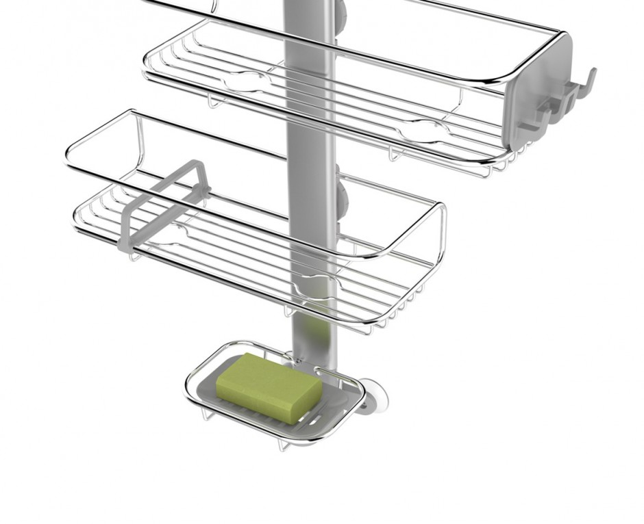 Simplehuman Shower Caddy | Bathroom Tension Pole Caddy | Caddy For Shower