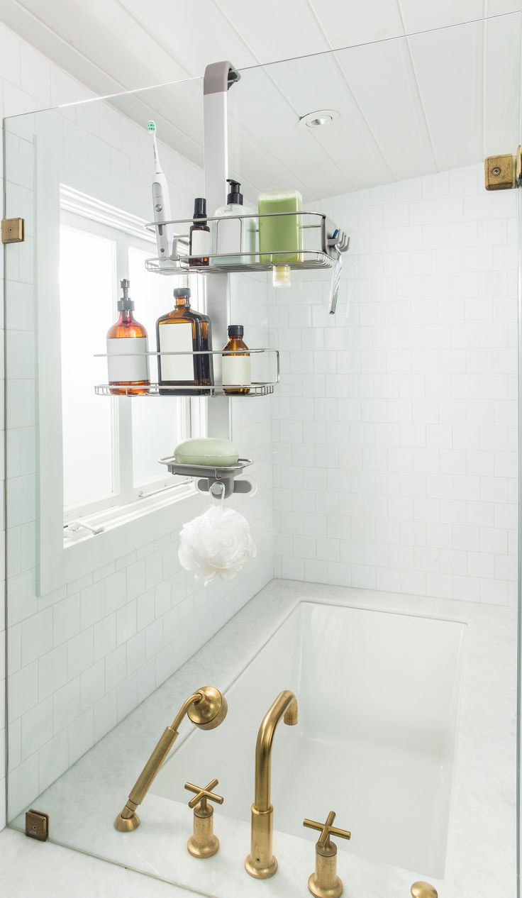 Bath & Shower: Simplehuman Shower Caddy | Ikea Shower Caddy | Shower ...