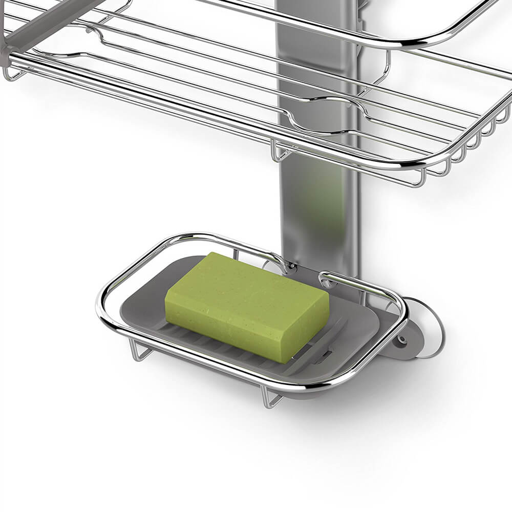 Simplehuman Shower Caddy | Shower Floor Caddy | Corner Tension Rod