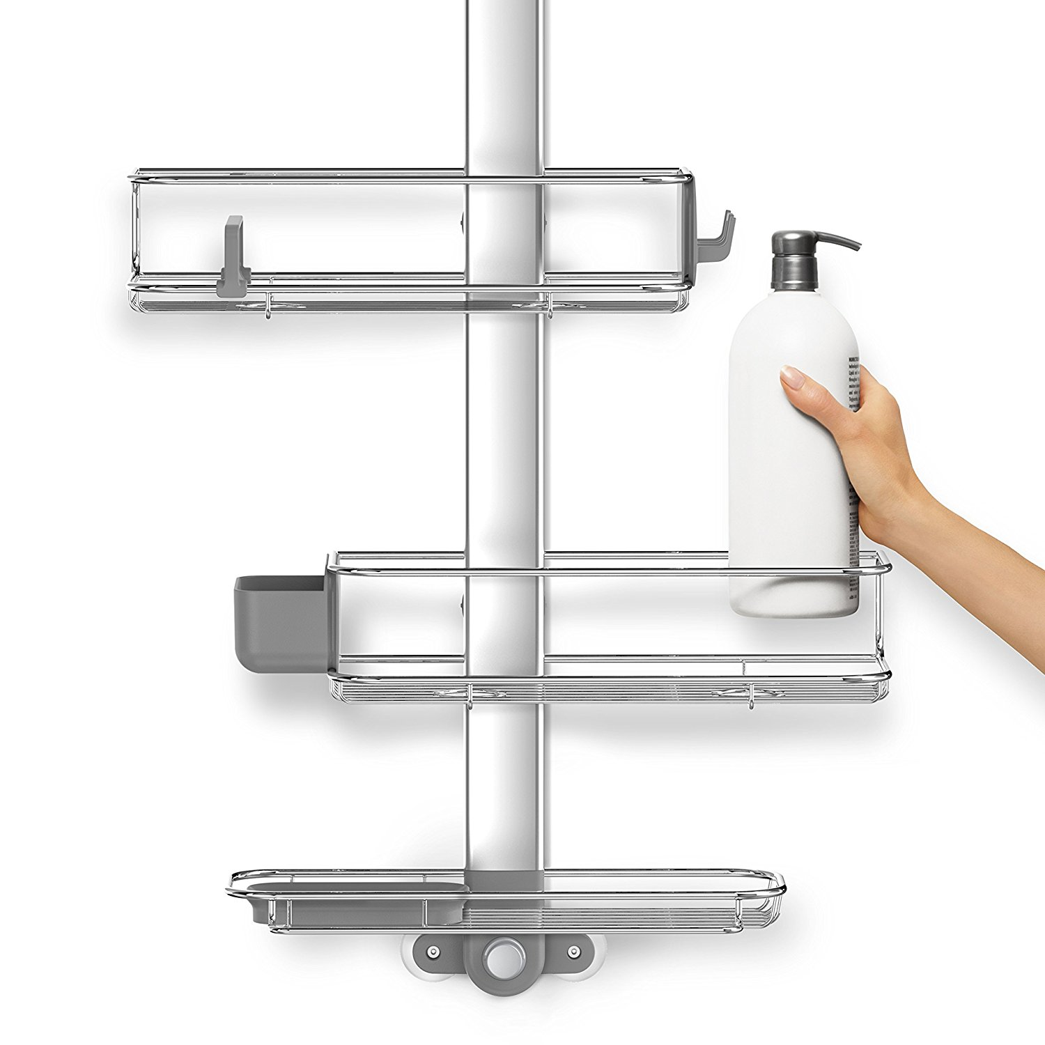 Have A Best Shower Caddy with Simplehuman Shower Caddy: Simplehuman Stainless Steel Tension Shower Caddy | Simplehuman Shower Caddy Tension | Simplehuman Shower Caddy