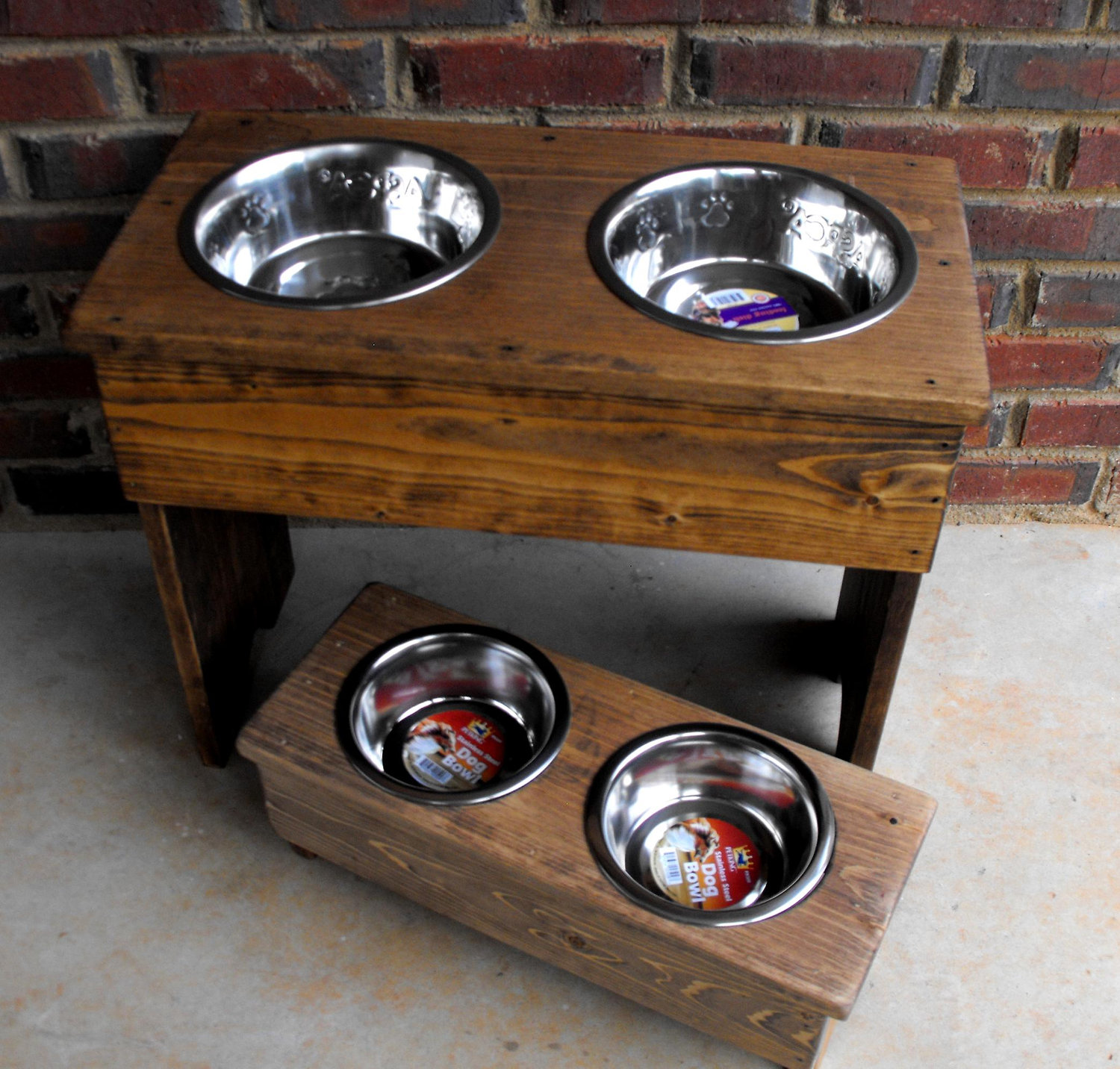 double feeder raised diner bowl bronze included store stainless wrought bowls dog steel noblesse single iron pet