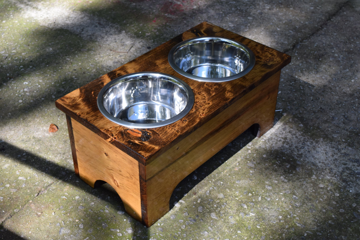 raised feeders next by trendy dogs holder style rustic pet of single for feeder modern image sta prev feeding home bowls howl bowl large dog